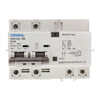 DZ47LE-100 Series Residual Current Circuit Breaker with Overload