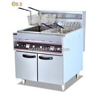 Vertical Stainless Steel Electric 2-tank&4-basket Fryer 28L/Tank BY-DF26-2