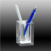 cheap glass crystal pen holder