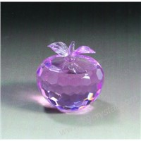 glass crystal apple for Christmas gifts