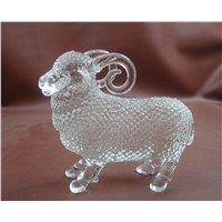 glass crystal goat animal figurine