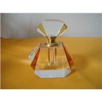 glass crystal perfume bottle