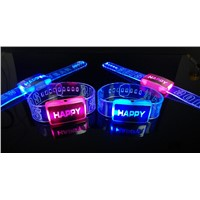 Night Event 2015 Happy Flashing LED Happy Watch Bracelet