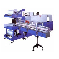 Small Wine Bottle automatic shrink wrapping machine for beverage plant