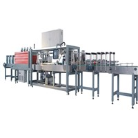 Water bottle Automatic Shrink Wrap Machine / Packing Equipment for Carton or Bag