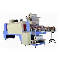 PE Film bottle shrink wrap machine , Line Type Shrink Sealing Machine
