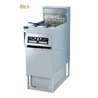 Vertical computer fryer with oil filter cart BY-DF30A