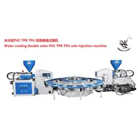 water cooling double color sole injection machine