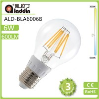 LED filament bulb from china factory with CC driver and plastic with TUV certificated