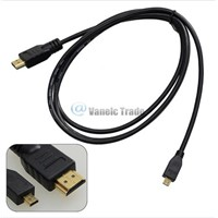 Micro HDMI To HDMI Cable For Gopro Hero 3 3+ 1080P HD TV Video Camera Type A To D