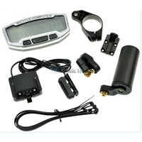 Pro LCD Bike Computer Odometer Speedometer Velometer Backlight 28 Function D0119