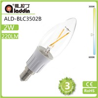 aladdin factory supply led candle bulb with good price in 2/3/4w