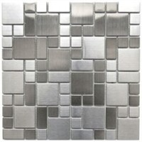 silver brush metallic mosaic tile for backsplash ,kitchen, ec.wall decor