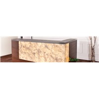 Resin transaction desk panel of stone appearance