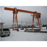 Europe style single beam Gantry cranes with folding legs