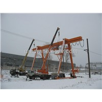 European style single beam Gantry cranes with foldable legs