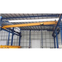 European style single girder Overhead cranes with hoist