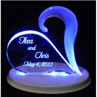 Acrylic led sign with Li Polymer battery