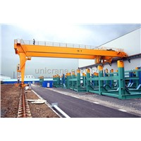 Euro-style double girder Semi Gantry cranes for sales promotion