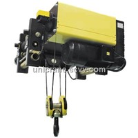Europe style Low clearance type wire rope electric hoist for single girder overhead crane