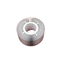 Silver Anodize 45 Watt Aluminum Heat Sinks Extrusions LED Light Heat Sink