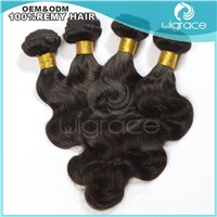2014 hot sale body wave virgin brazilian human hair extensions