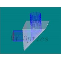 BK7 UV fused silica optical rectangular prism