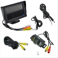 Car Rear View System Backup Reverse Camera Night Vision + 4.3 TFT LCD Monitor