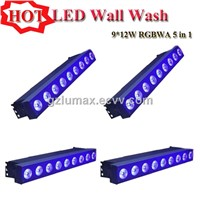 LED Wall Wash 9*12W RGBWA 5 in 1 LED Stage Light Bar/KTV Washer Light