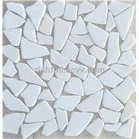 pebble stone tile,white marble pebble tile,white marble pebbles,tumbled pebble tile