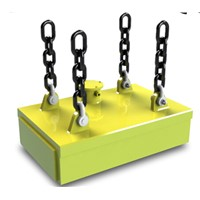 Lifting magnet for lifting steel billets