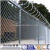 Chain link fence with razor barbed wire