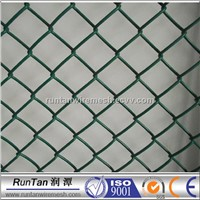 PVC coated and galvanized chain link fabric