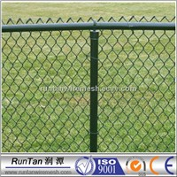 Selvedge galvanized or PVC chain link fence