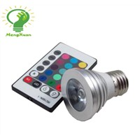 RGB led remote controlling led spotlight bulbs MX-GU10-RGB-4W GU10 4W