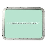 Aluminum marine windows/welded rectangular ship window/marine watertight window