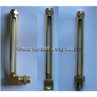 Brass Tuber oil level gauge with glass tube