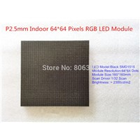 P2.5 Indoor SMD RGB LED Display Module , High Definition Black LED 3-IN-1 , 1/32 Scan 160*160MM