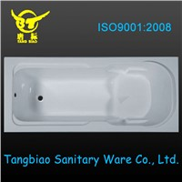 acrylic bathtub from China manufacturer,built-in bathtub export