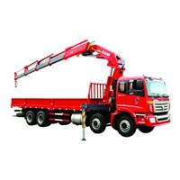 16 Ton Knuckle Truck Mounted Crane For Heavy Things Lifting