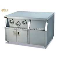 Work Table with 3- Cup Dispenser and Ice Cabinet BY-WS23