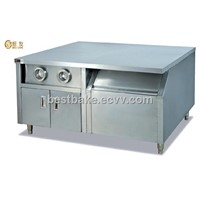 Work Table with 2- Cup Dispenser and Ice Cabinet BY-WS23