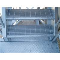 Excellent skid-resistant serrated bar steel grating