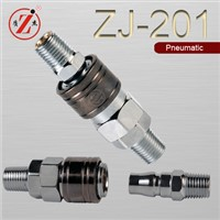 ZJ-201 carbon steel Japaness type pneumatic quick-connect couplers and plugs