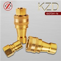 KZD ISO 7241 B brass medium-pressure chemical quick release coupler