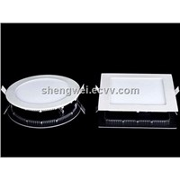 High efficiency recessed ceiling urltra slim round ledpanel light