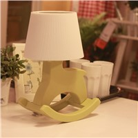 Novel Bedside lamps, Rocking horse appearance, package can be customized
