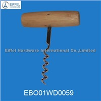 Promotional Stainless Steel Corkscrew with Wood Handle (EBO01WD0059)