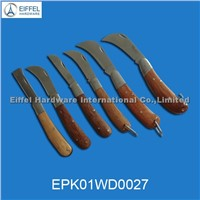 High Quality Stainless Steel Camping Knife with Wood Handle in Different Models(EPK01WD0027)