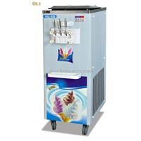 Soft Ice Cream Machine Storing 2 Flavors and A Mixed Flavor Output:25l Each Hour BY-BQL838